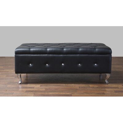 Baxton Studio Brighton Upholstered Bedroom Bench Upholstery Color: Black