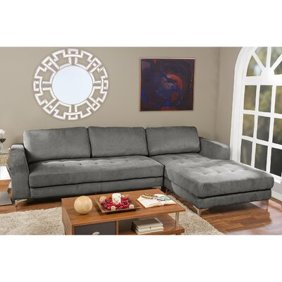 Baxton Studio Modular Sectional Upholstery: Gray