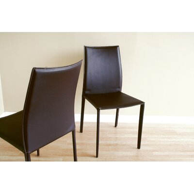 Low Price Wholesale Interiors Claudio Side Chair (Set of 2) Upholstery: Brown