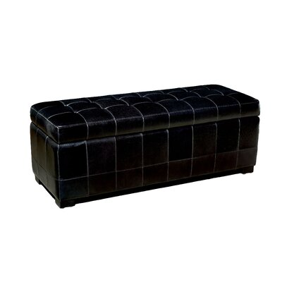 Baxton Studio Upholstered Storage Bench Upholstery: Black
