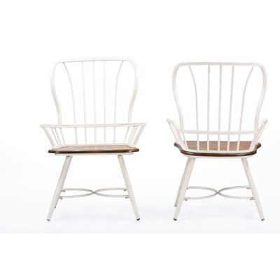 Longford Arm Chair Finish: White