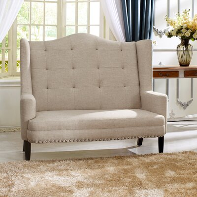 Baxton Studio Kerrigan Contemporary Settee Upholstery: Beige