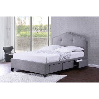 Baxton Studio Upholstered Storage Platform Bed Size: Queen