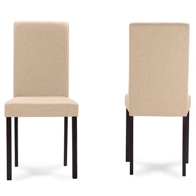 Baxton Studio Side Chair Upholstery: Beige