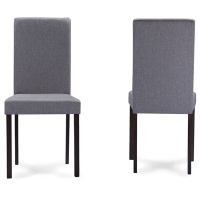 Baxton Studio Side Chair Upholstery: Grey