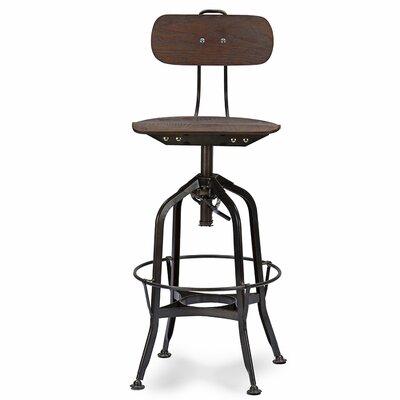 Baxton Studio Adjustable Height Swivel Bar Stool