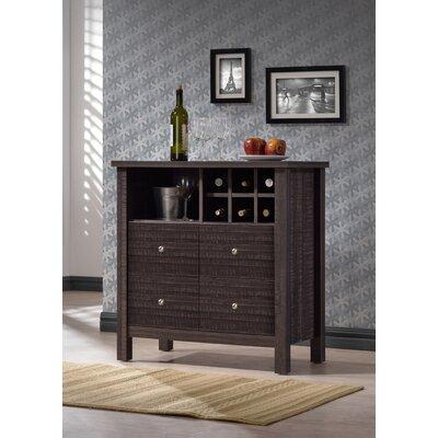 Baxton Studio Bar Cabinet in Dark Espresso Veneer
