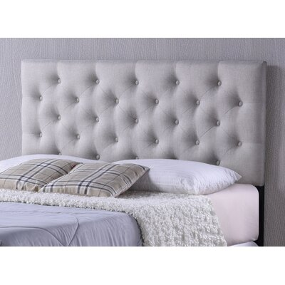 Baxton Studio Viviana Upholstered Panel Headboard Upholstery: Light Beige, Size: Queen