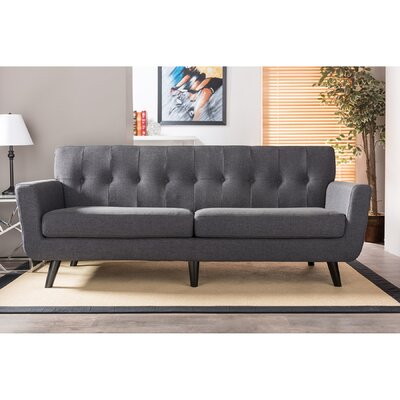 TSF-8128-3-SF-Grey WHI6681 Wholesale Interiors Baxton Studio Oscar 3 Seater Sofa