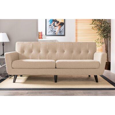 TSF-8128-3-SF-Beige WHI6679 Wholesale Interiors Baxton Studio Oscar 3 Seater Sofa