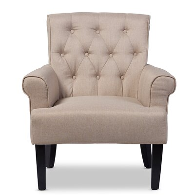 Baxton Studio Armchair Color: Beige
