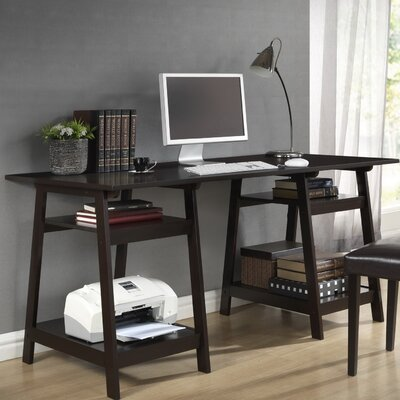 Baxton Studio Modern Writing Desk with Sawhorse Legs Product Picture 5844
