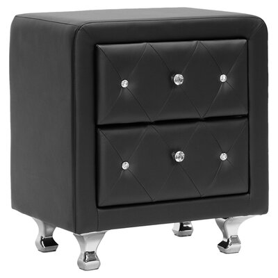 Baxton Studio Nightstand in Black