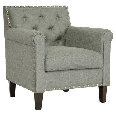 Baxton Studio Teresa Tufted Armchair in Grey