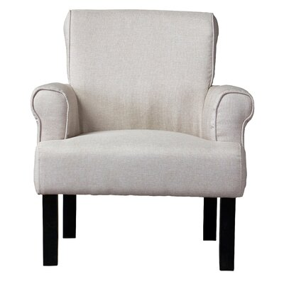 Baxton Studio Classics Wing Armchair Upholstery Color: Beige