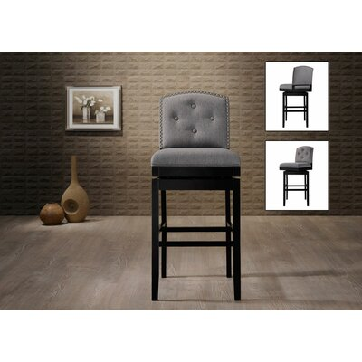 Dascomb 30.23 Swivel Bar Stool Finish: Grey