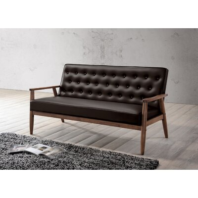 Baxton Studio Sofa Upholstery: Brown
