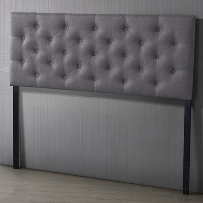 Baxton Studio Viviana Upholstered Panel Headboard Size: Full, Upholstery: Gray