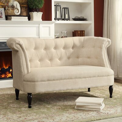 Baxton Studio Erica Chesterfield Loveseat