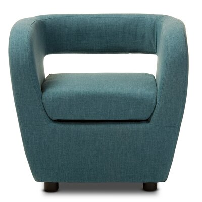 Utley Barrel Chair Upholstery: Blue