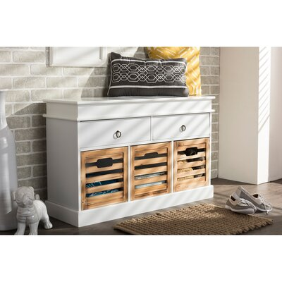 Baxton Studio Rochefort British Storage Bench Server