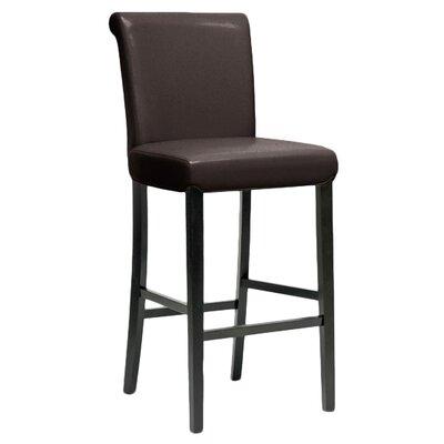 Baxton Studio 30 Bar Stool Upholstery: Brown