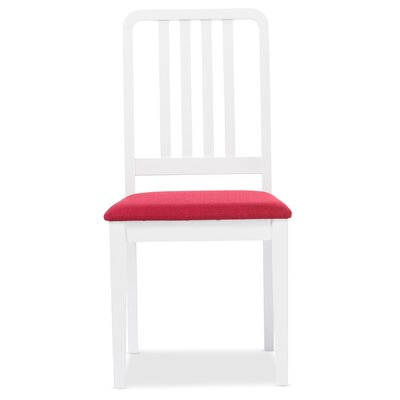 Baxton Studio Jasmine Side Chair Upholstery: Red
