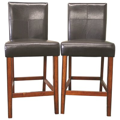 Rent Glosette Leather Barstool in Brown ...