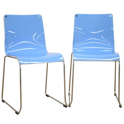 Wholesale Interiors Balisto Acrylic Dining Chairs in Blue (Set of 2) Best Price