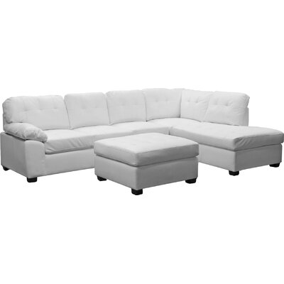 Wholesale Interiors R7470 3PC Sofa-WHITE Baxton Studio Sectional Upholstery