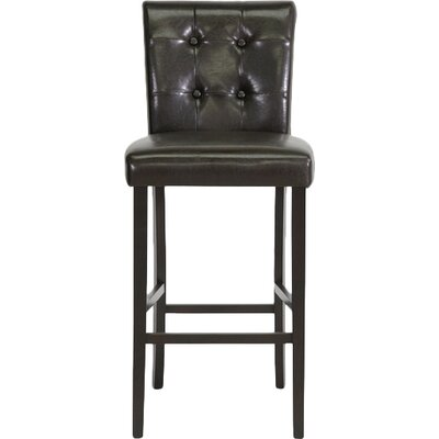 Baxton Studio 30 Bar Stool Upholstery: Brown