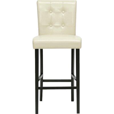 Baxton Studio 30 inch Bar Stool Upholstery: Cream