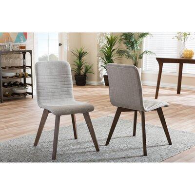 Baxton Studio Parsons Chair Upholstery: Light Gray