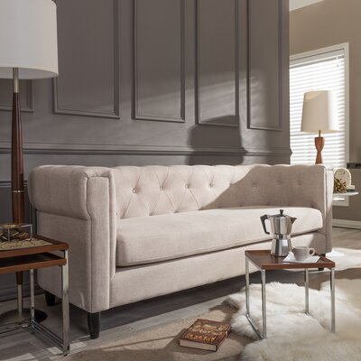 Baxton Studio Cortland Chesterfield Sofa