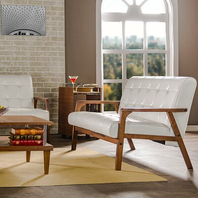 TOGO LC-109-545 WHI5542 Wholesale Interiors Brolin 39.5″ Loveseat