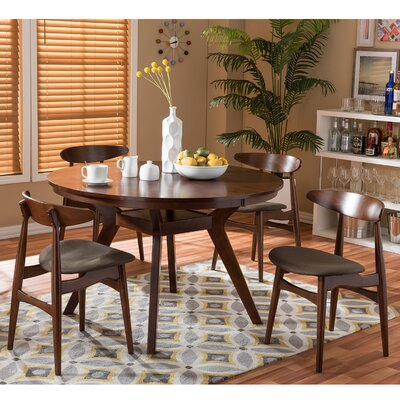 Baxton Studio Flamingo 5 Piece Dining Set