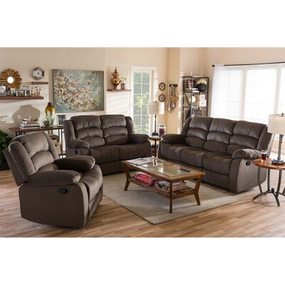 98240-Brown 3PC Set Wholesale Interiors Living Room Sets