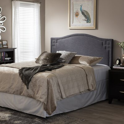 Baxton Studio Aldo Upholstered Headboard Upholstery: Dark Gray, Size: Full