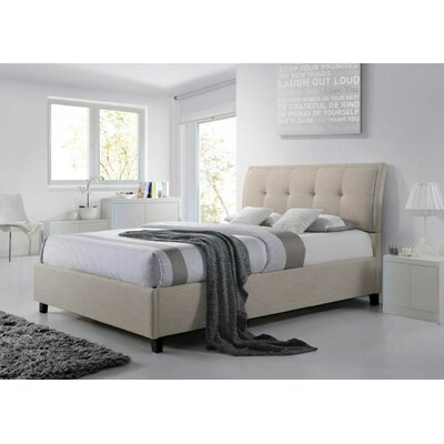 Mizuno Queen Upholstered Storage Platform Bed Color: Beige
