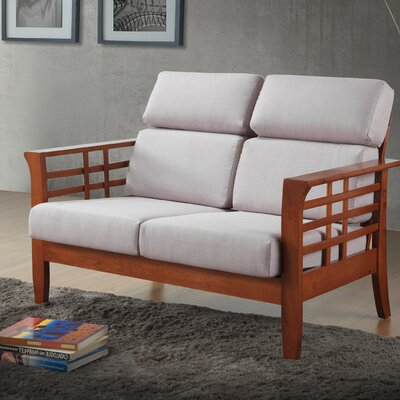 1421-6891-WF WHI7519 Wholesale Interiors Baxton Studio Armanno 2 Seater Living Room Loveseat