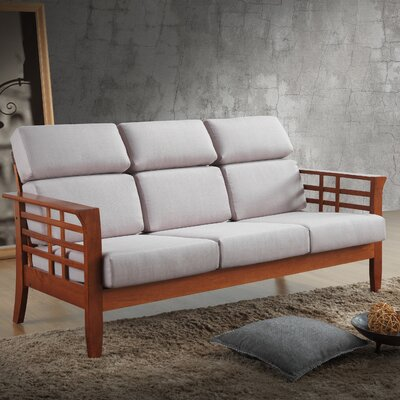 1421-6892-WF WHI7520 Wholesale Interiors Baxton Studio Armanno 3 Seater Living Room Sofa