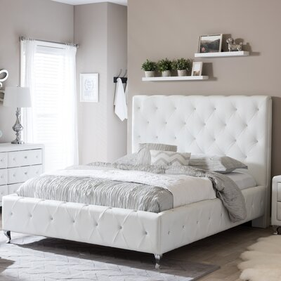 Stella Upholstered Platform Bed Size: Queen
