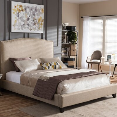 Baxton Studio Upholstered Platform Bed Size: Queen