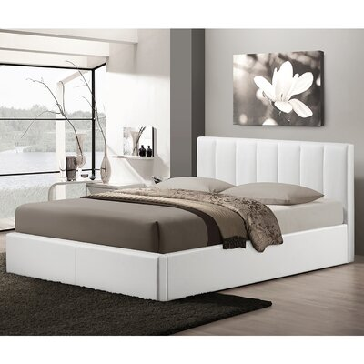 Baxton Studio Queen Upholstered Storage Platform Bed Upholstery: White