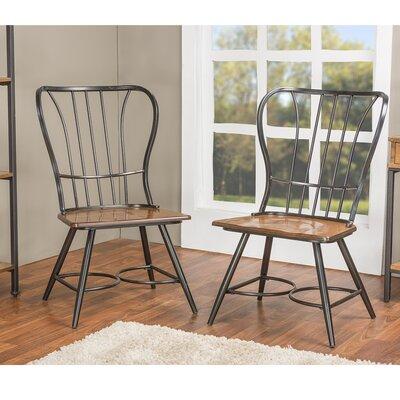 Baxton Studio Side Chair Finish: Black