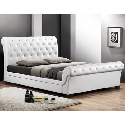 Baxton Studio Full/Double Upholstered Sleigh Bed