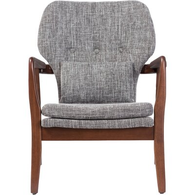 Duong Tufted Armchair Upholstery Color: Grey