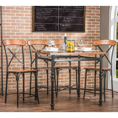 Baxton Studio 5 Piece Pub Set
