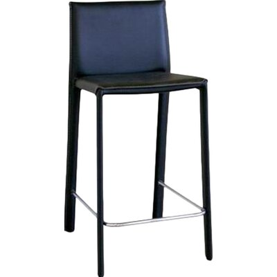 Crawford 25.5 Bar Stool Upholstery: Black