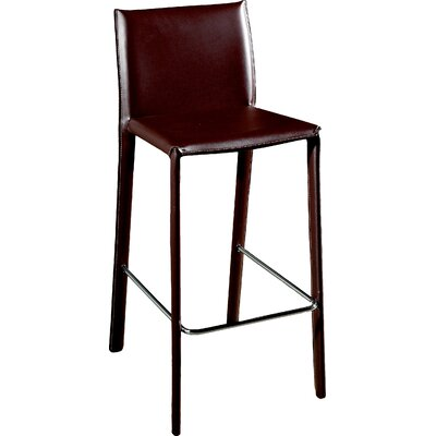 Crawford 25.5 Bar Stool Upholstery: Brown